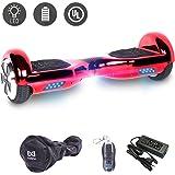 Cool&Fun 6,5 Pouces Hoverboard Self Balance Scooter Smart Skateboard Auto-équilibrage Électrique Gyropode 2x350W