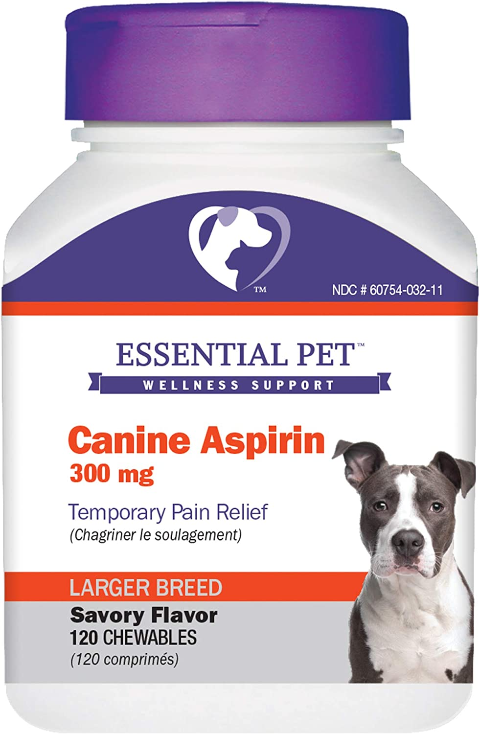 Essential Pet Canine Aspirin 300mg Temporary Pain Relief for Larger Breed Dogs