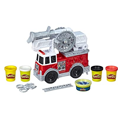 Play-Doh Wheels Firetruck Toy with 5 Non-Toxic Colors Including Play-Doh Water Compound: Toys & Games