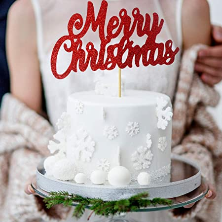 Grantparty Red Merry Christmas Cake Topper Holiday Santa And Reindeer Cake Decorations Happy New Year Hello 2021 Sign Red Amazon Ca Toys Games