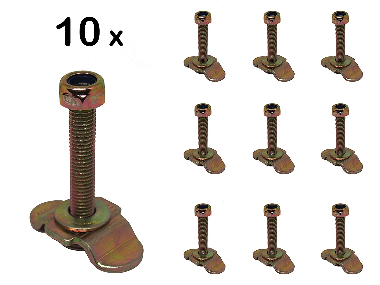 Airlineschiene M8x45 Endbeschlag Endfitting Fitting 10x Single Schraubfitting f