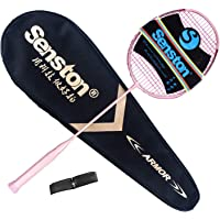 Senston Raquette de Badminton Graphite de Haute qualité Badminton Raquette - Incluant 1 Sac de Badminton/1 Raquette de Badminton