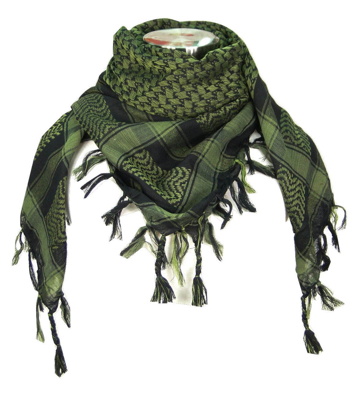 Premium Shemagh Head Neck Scarf - Green/Black