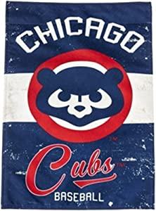 Rico Industries, Inc. Chicago Cubs EG Vintage GARDEN Flag Premium 2-sided Retro Banner Baseball