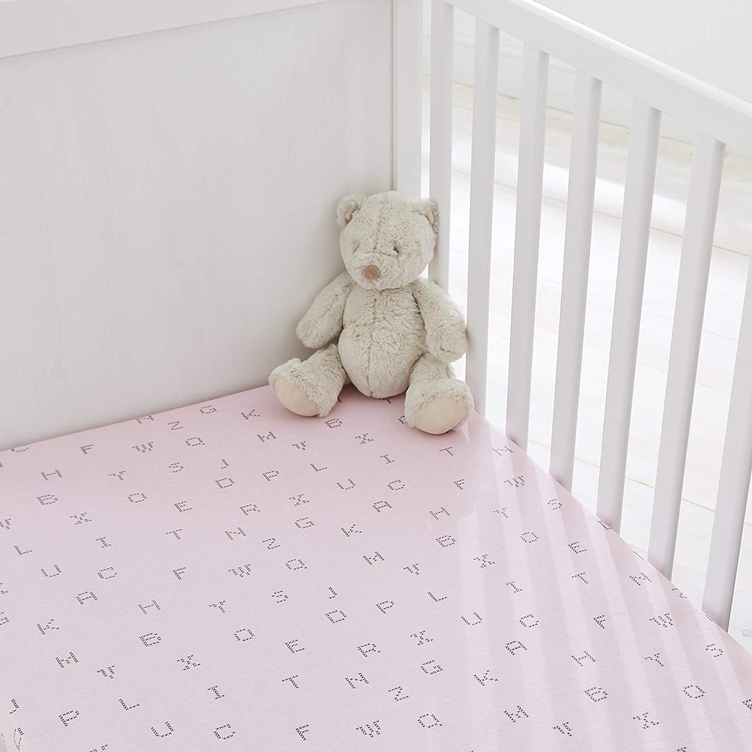 Cot Bed 100/% Cotton White Silentnight Safe Nights Fitted Sheets x 2