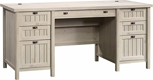 Sauder 419954 Costa Executive Desk, Chalked Chestnut Finish