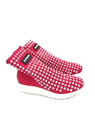 Gioselin Scarpa Donna Sneakers Borchie Studs Rossa  Amazon.it ... 8be3ca0e9f5
