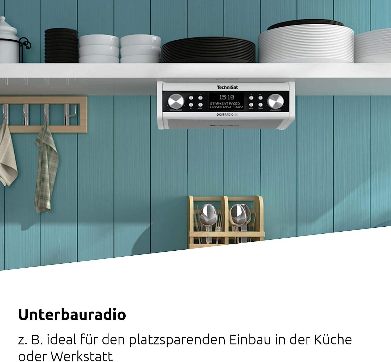 TechniSat DIGITRADIO 8 – Modernes & kompaktes DAB+ Küchen- &  Badezimmerradio (Empfangstarkes UKW Unterbauradio mit Uhr)