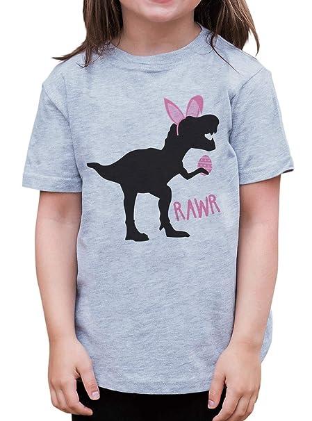 e9950fbb Amazon.com: 7 ate 9 Apparel Baby Girls Dinosaur Happy Easter T-Shirt ...