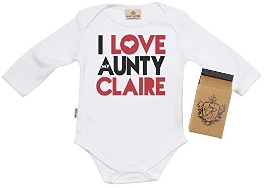 Sr gift boxed personalised i love aunty claire baby babygrow sr gift boxed personalised i love aunty claire baby babygrow baby onesie baby negle Gallery
