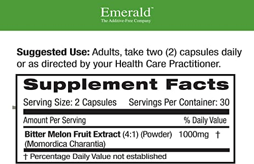 Emerald Laboratories, Fruitrientsx Bitter Melon, 60 Count