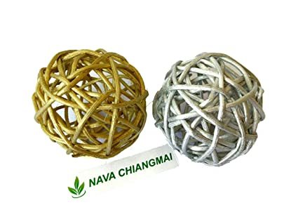 Amazon NAVA CHIANGMAI 40 Pcs Decorative Balls Rattan Balls Awesome Rattan Decorative Balls
