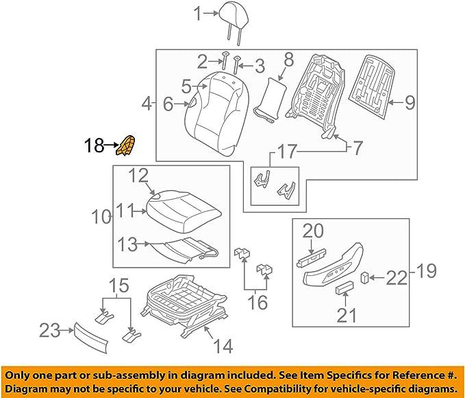 Rear HYUNDAI Genuine 88185-3S000-RY Shield Seat Cover