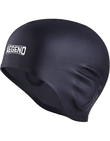 Aegend Solid Silicone Swim Cap 6be2ed796e65