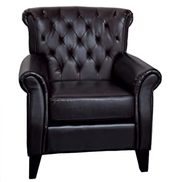 Fantastic Amazon Com Best Selling Geoffrey Leather Club Chair Brown Ncnpc Chair Design For Home Ncnpcorg