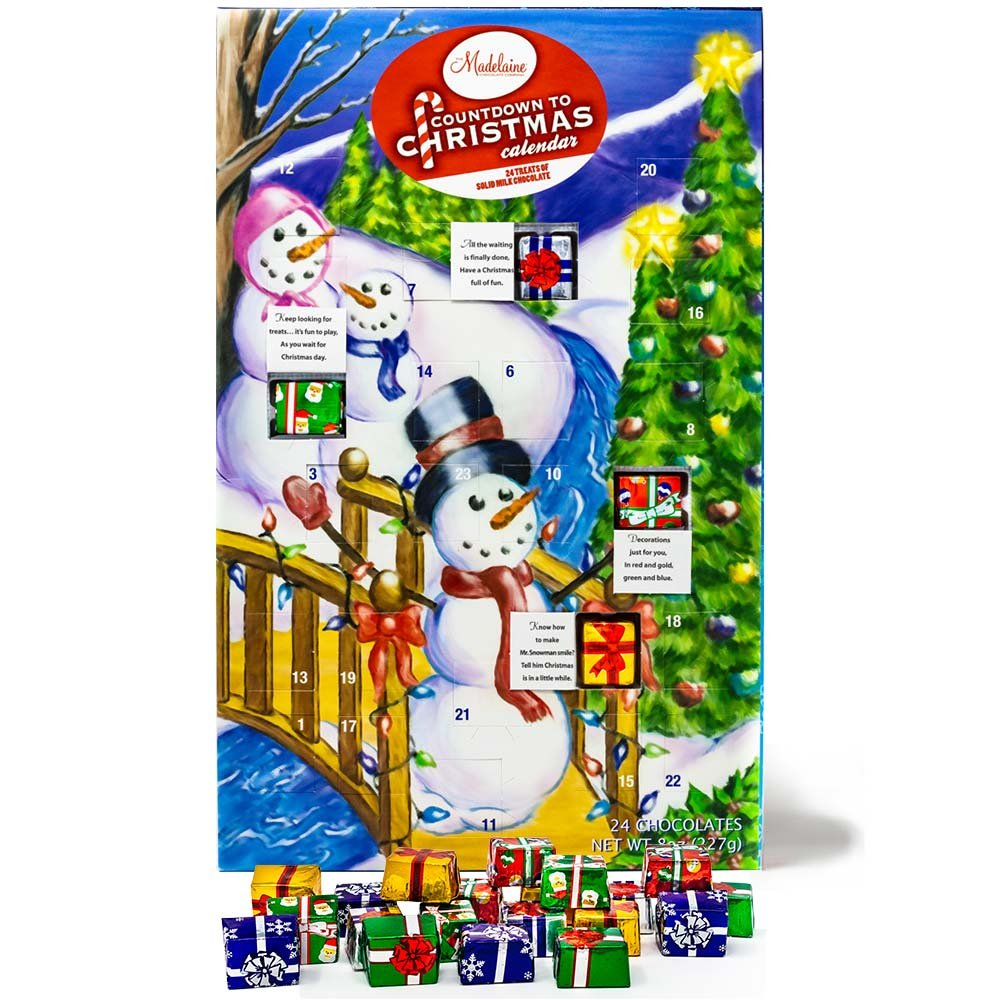 madelaine chocolates christmas by the creek countdown advent calendar filled with solid premium milk chocolate - Countdown To Christmas