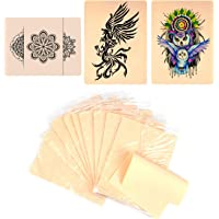 10 X Blank Tattoo Skin Double-sided Practice Fake Skin, Portable Tattooing and Microblading Eyebrow Practice Skin for…