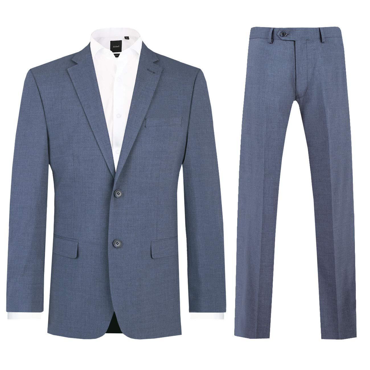 Dobell Herren Anzug Zweiteilig Orionblau Regular Fit