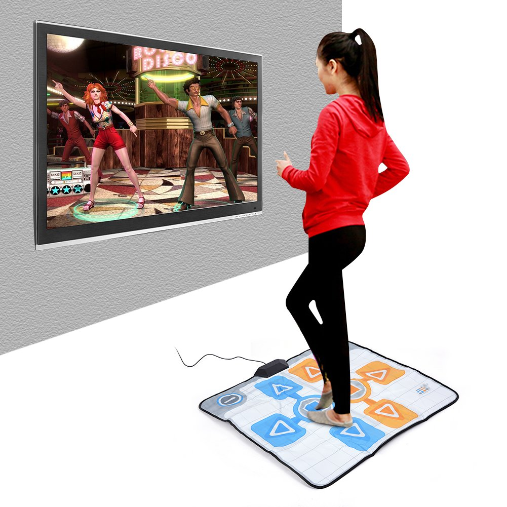 Double Person Dancing Mat,Non-Slip Game Dance Pads for Nintendo Wii Console Game,Plug and Play for 2 Player by Tangxi (Image #2)