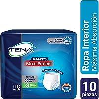 TENA Pants Maxi Protect; Ropa Interior Desechable para Incontinencia, Talla Grande; TENA; 10 Piezas