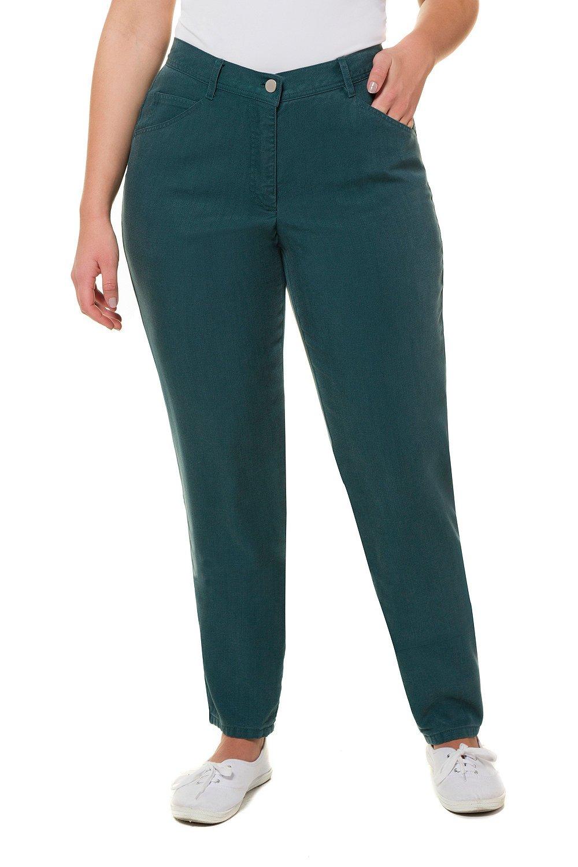 Ulla Popken Women's Plus Size 5-Pocket Lyocell Pants Turquoise Green 30 717544 74