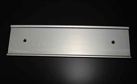 Wall Mount Name Plate Holders Matte Silver (Not Shiny)- Pack of 10 ( & Amazon.com : Wall Mount Name Plate Holders Matte Silver (Not Shiny ...