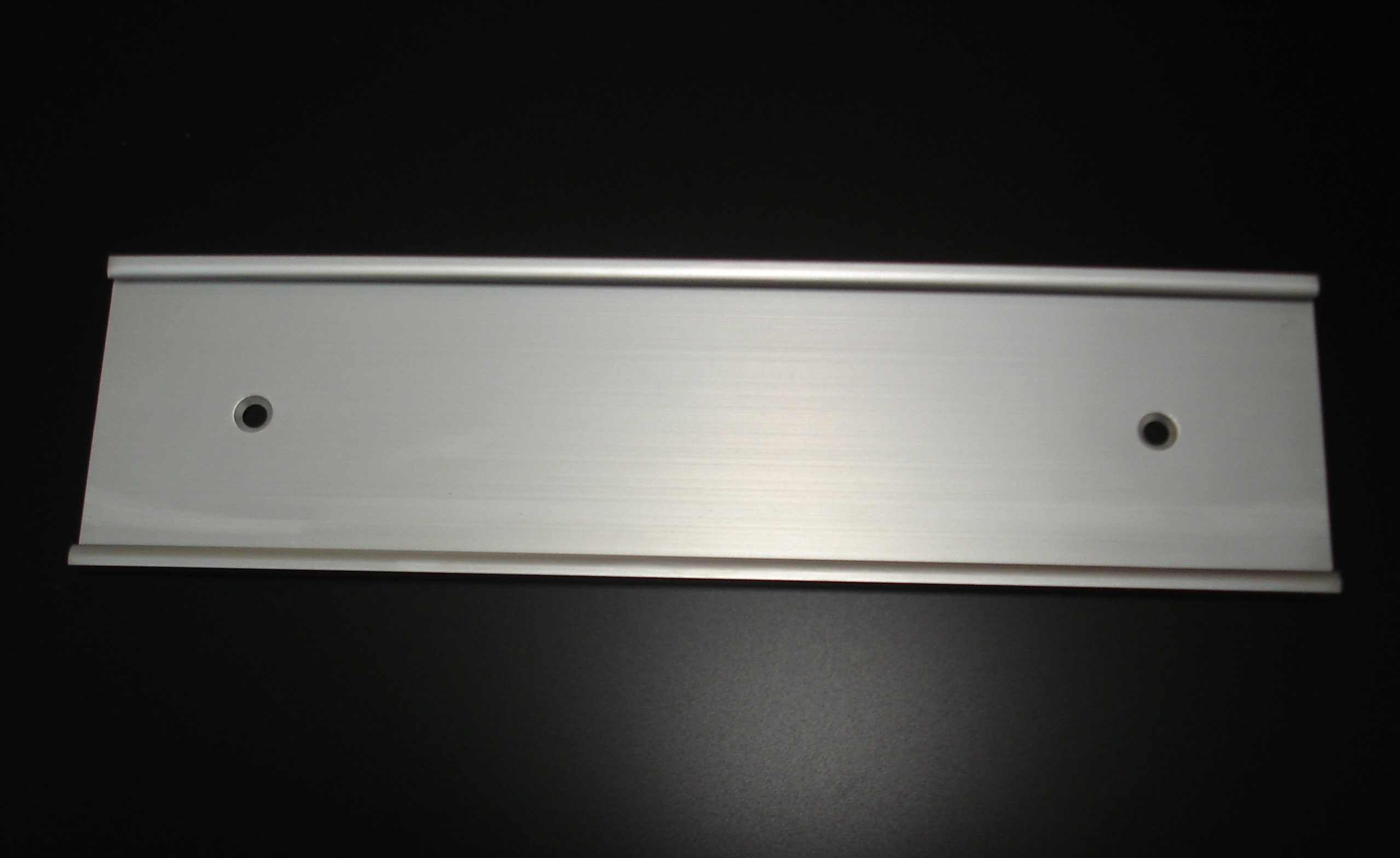 Wall Mount Name Plate Holders Matte Silver (Not Shiny)- Pack of 10 (2'' x 10'')
