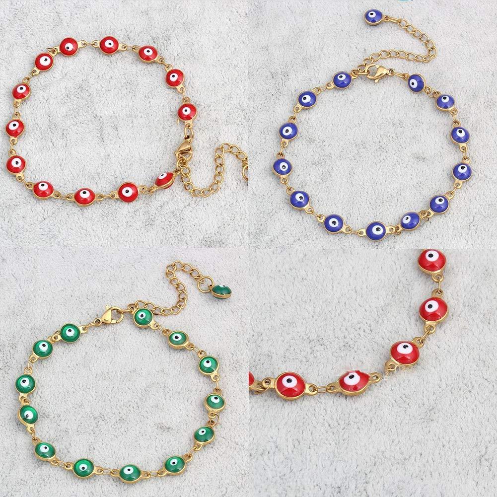 SoundsBeauty Women Alloy Bracelet Ethnic Turkey Evil Eyes Enamel Decors Lucky Jewellery Gift