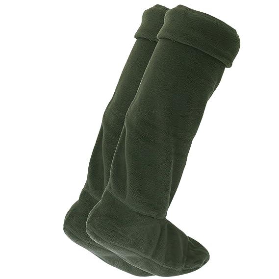 FLOSO - Calcetines de forro polar para botas de agua (1 par) (45