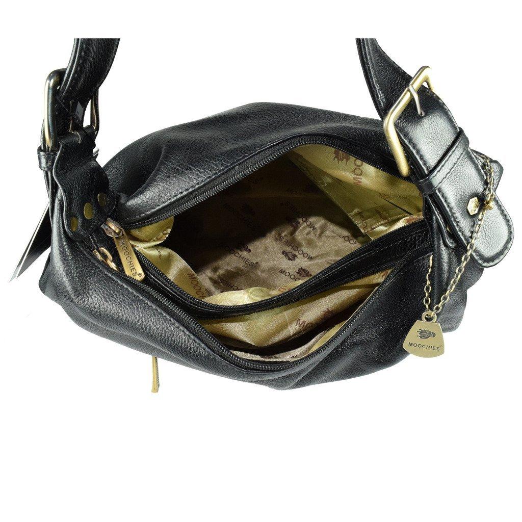 Moochies Ladies Genuine Leather Purse-Black(New)  Amazon.in  Shoes    Handbags 8b5e3ce3ec