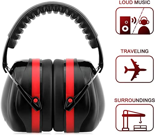 Black Ear Muff Hearing Protection Folding//Adjustable Work//Hunting//Shooting 26DB