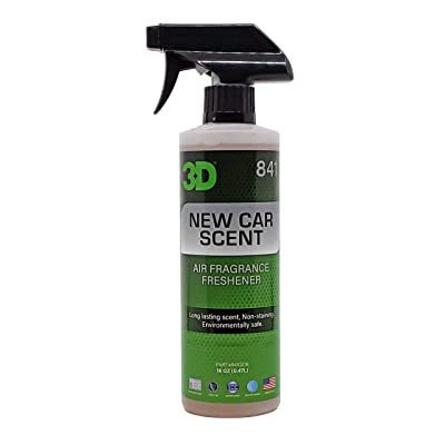3D A/F (16oz.) | Water Based Odor Eliminator | Made in USA | All Natural | No Harmful Chemicals | Air Freshener (New Car Scent): Automotive