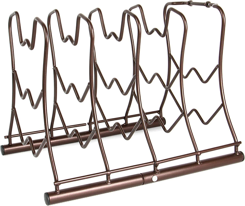 Solution de stockage de cuisine peu encombrante Organisateur polyvalent pour po/êle /à frire de niveau sup/érieur Maison /& White Porte-pan 5 couches