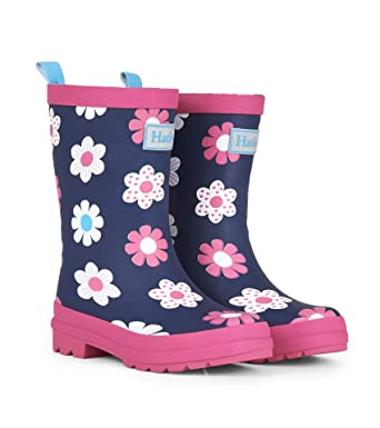 a818aa3d0fe7f Amazon.com: Hatley Girls' Spring Flowers Matte Rain Boots: Clothing