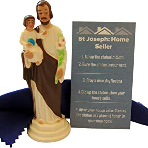 Westman Works St Joseph Statue for Selling Homes Kit with Instructions and Burial Cloth Set