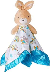 KIDS PREFERRED Beatrix Potter Peter Rabbit Plush Stuffed Animal Snuggler Blanket - Blue