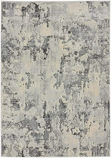 Luxe Weavers New Castle Gray 9×12 Modern Area Rug