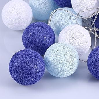 Cotton Ball Lights 6cm Durchmesser Led Lichterkette Mit 20