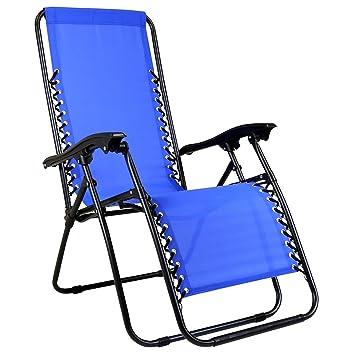 Silla plegable de camping estándar - Lona - Azul: Amazon.es ...