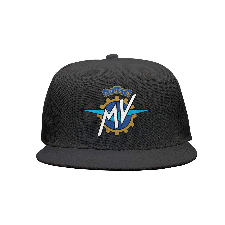 Unisex Boy Casual Flat-Brimmed Hat Six Panel Baseball Cap BLFHJ MV-Agusta-Logo