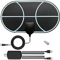 Rpanle Antena TV Interior, Antena TV portátil HD TV Digital 120 Millas con Amplificador de Señal Inteligente para…