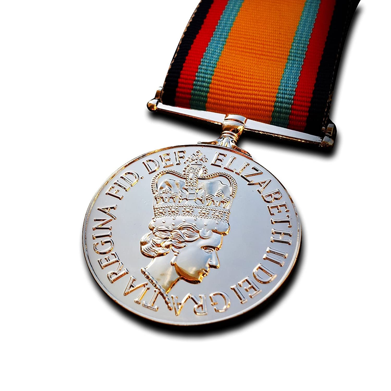 Medalla Militar Guerra del Golfo British Medal–Medalla de campaña Kuwait y Arabia Saudita 1990RAF Repro Goldbrothers13
