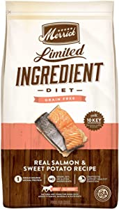 Merrick Grain Free Limited Ingredient Diet Salmon & Sweet Potato Recipe Dry Dog Food, 4 lbs.