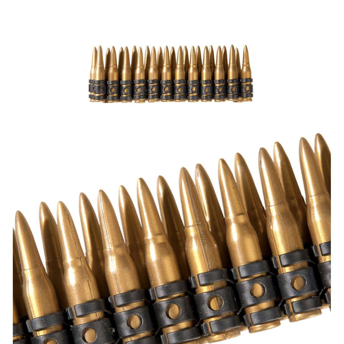 Ceinture cartouches armée Cartouchière soldat 24 coup de feu ceinture à munitions armée accessoire déguisement de soldat giberne jambes cartouchière militaire Amakando