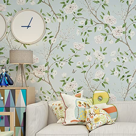 Blooming Wall Fresh White Peony Wallpaper Wallpaper Wall Mural for on