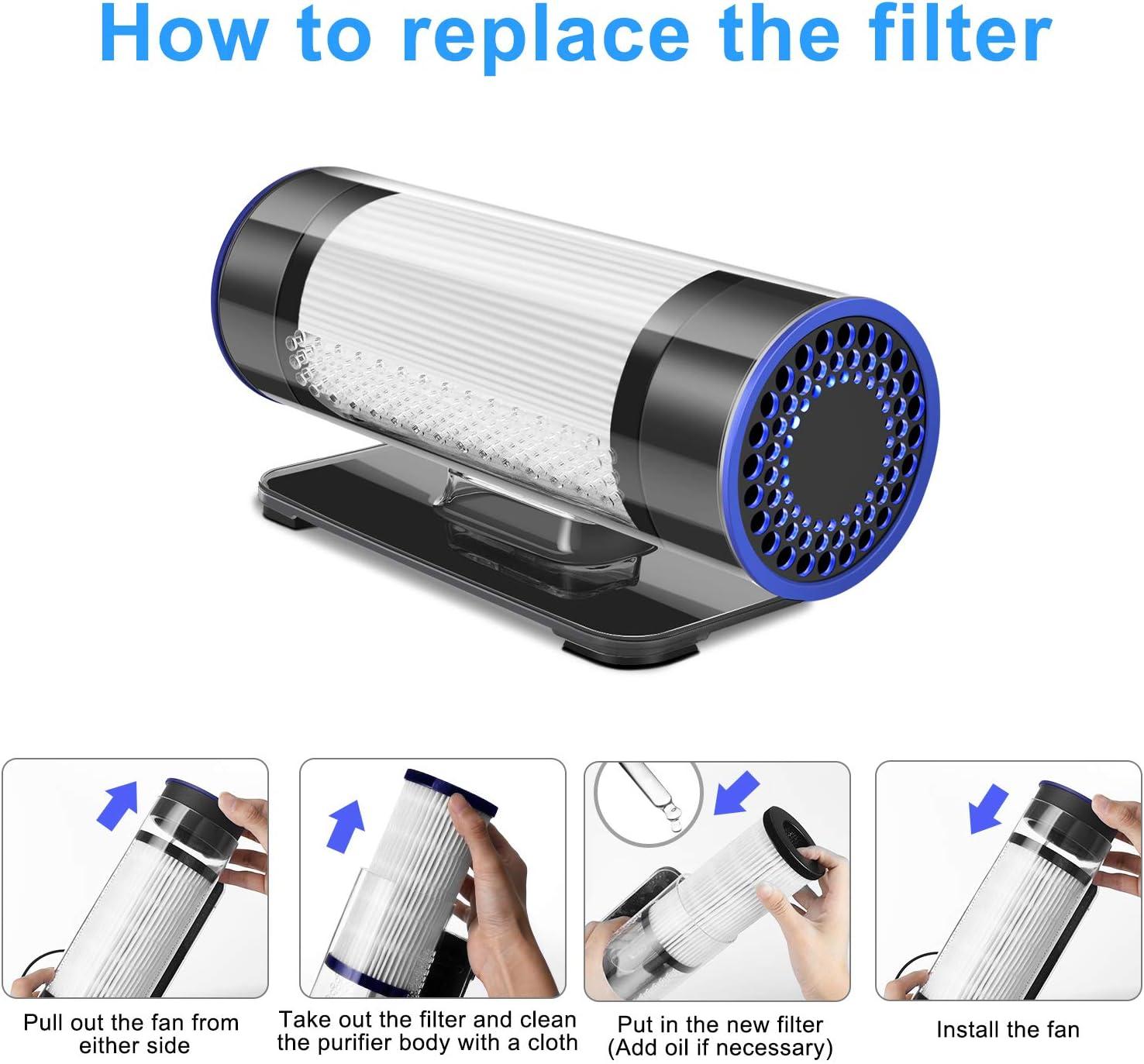 Purificador de aire para coche con filtro anti polvo