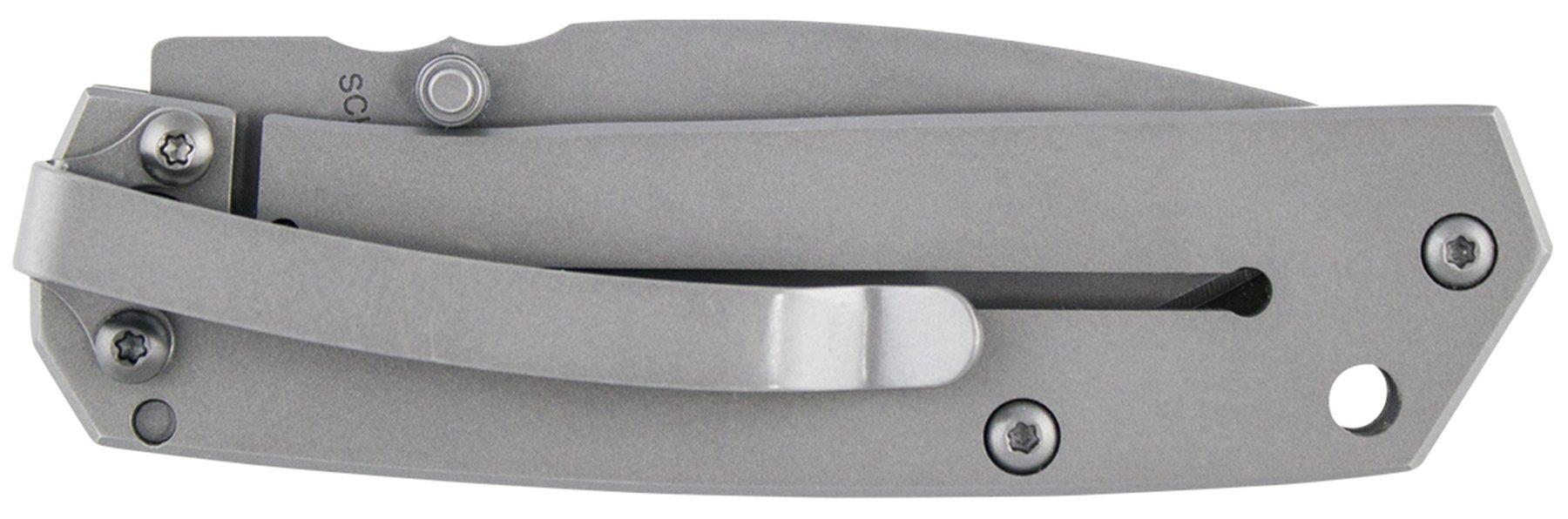 Schrade SCH303MS Mini Frame Lock Partially Serrated Folding Knife