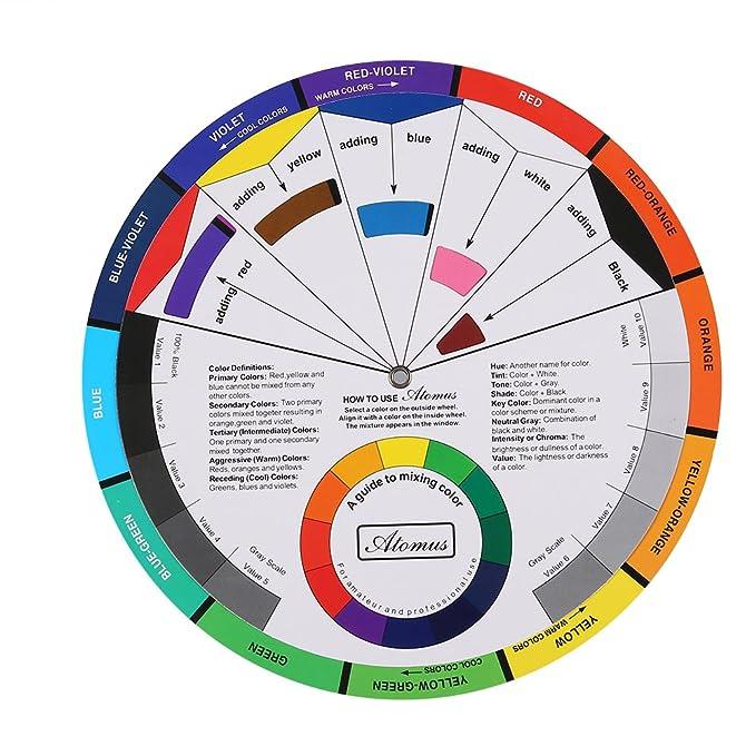 Mehrfarbig Künstler-Farbmischscheibe / Farbmischrad / Color Wheel ...