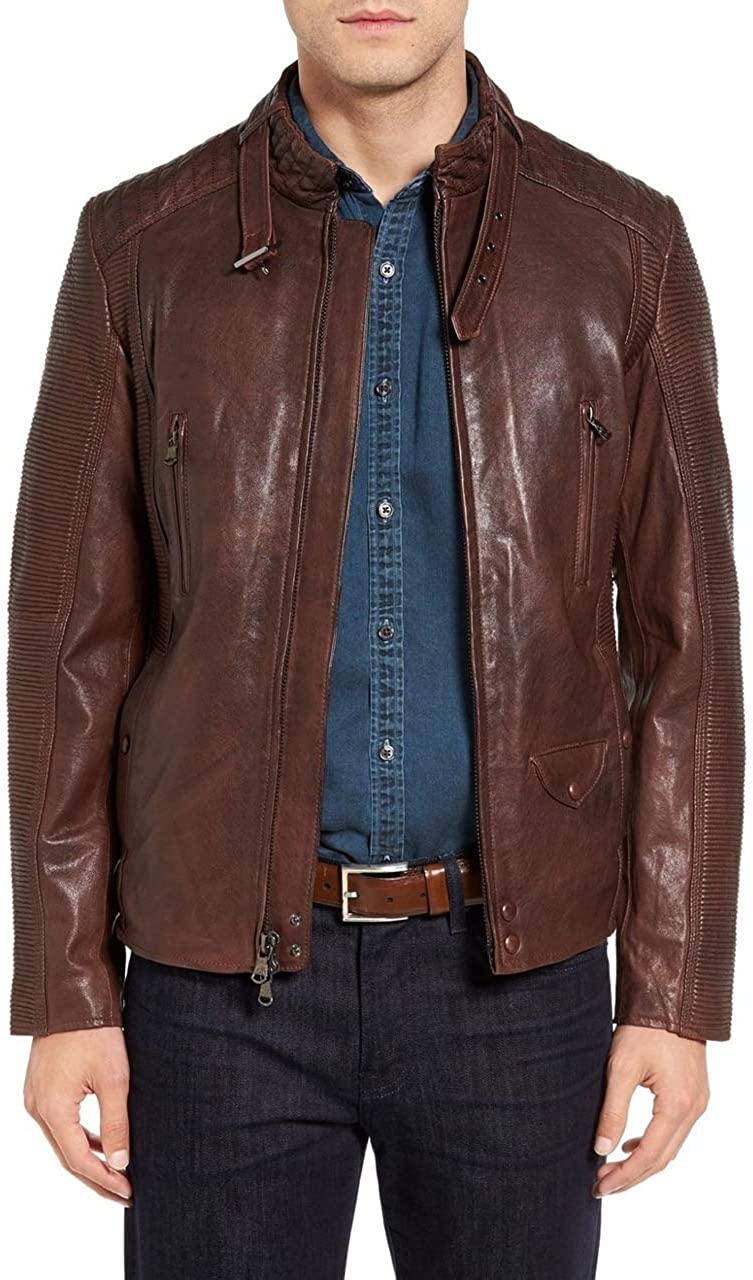 ZS LEATHER Genuine Lambskin Premium Quality Trendy Leather Jacket ZSLM-24