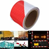 KING DO WAY 3M Red&White Twill Night Reflective Self-adhesive Safety Warning Conspicuity Strip Tape Film Stickers